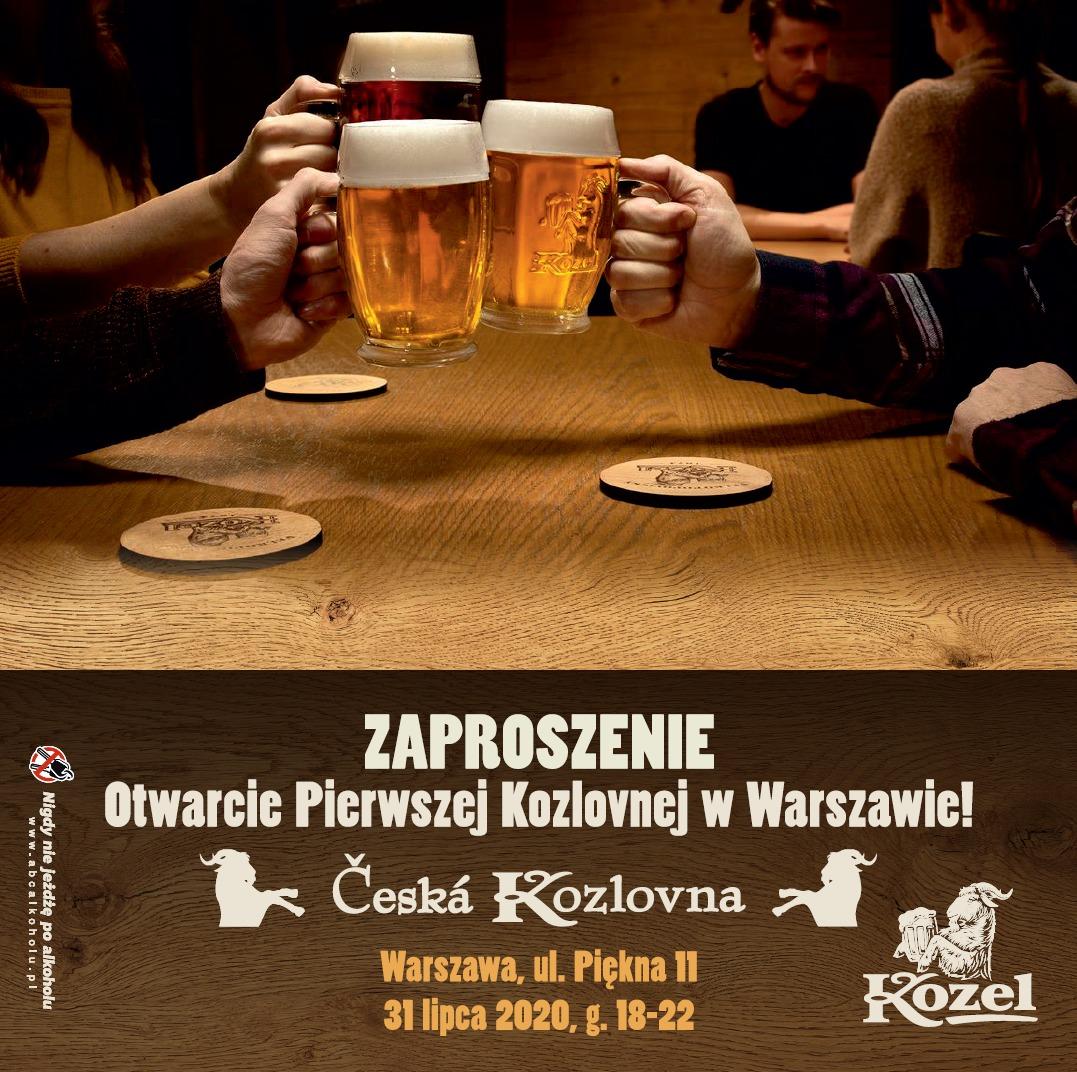 Otwarcie Ceskiej Kozlovni W Warszawie