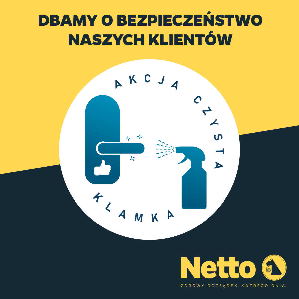 """Netto Dołącza Do Akcji """"Czysta Klamka"""""""